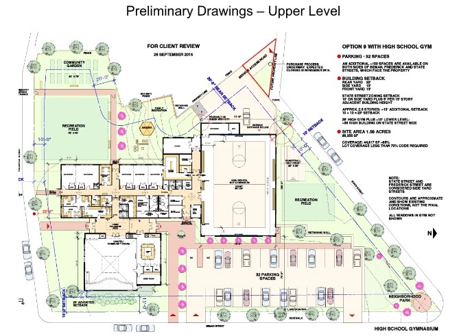 Upper Level  Preliminary Plan