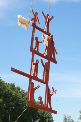 Lifting the East Wall Sculpture