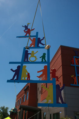 Lifting the South Wall Sculpture