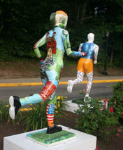 Art on the run sculptures