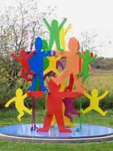 The Wandell Sculpture Garden in Urbana