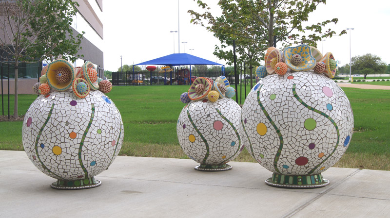 Globes at Texas Children's Hospital West Campus