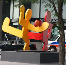 Keith Haring - Tw0 Dancing Figures