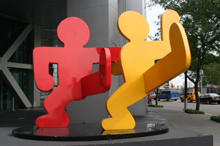 "Keith Haring's ""Two Dancing Figures"""