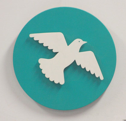 Peace Dove in Wood