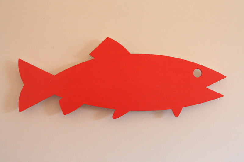 Wall Mounted Fish 1 - painted wood